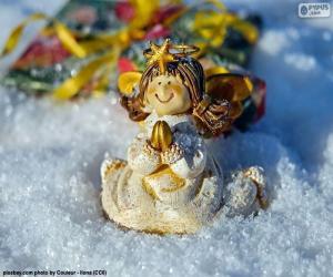 Puzzle de Ángel de Navidad, rezando