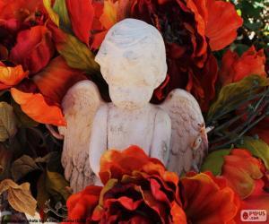 Puzzle de Ángel entre flores