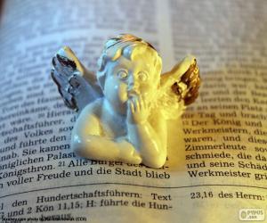 Puzzle de Ángel y Biblia