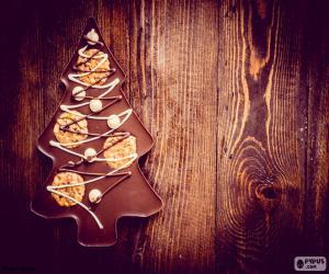 Puzzle de Árbol de chocolate, Navidad