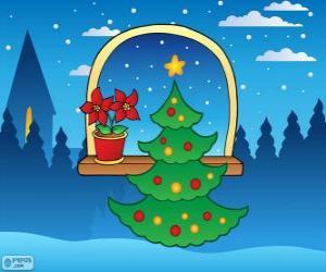 Puzzle de Árbol de Navidad decorado