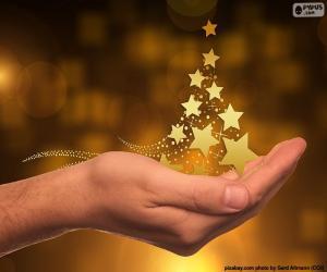 Puzzle de Árbol de Navidad, estrellas