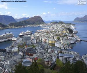 Puzzle de Ålesund, Noruega
