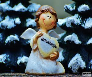 Puzzle de Ángel de la guarda, Navidad