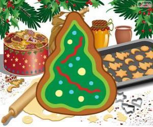 Puzzle de Árbol de Navidad, una galleta de Navidad