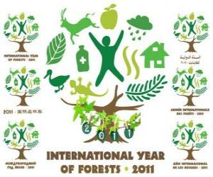 Puzzle de 2011 Año Internacional de los Bosques