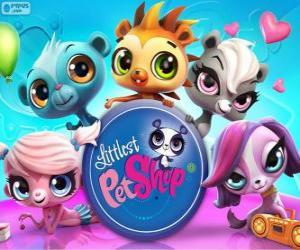 Puzzle de 5 mascotas de Littlest PetShop