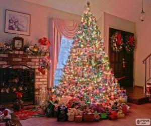 Puzzle de Abeto de Navidad decorado