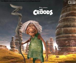 Puzzle de Abu, la suegra de Grug de Los Croods