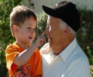 Puzzle de Abuelo con su nieto