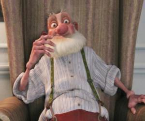 Puzzle de Abuesanta, el viejo padre malhumorado de Santa que odia el mundo moderno