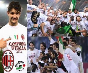 Puzzle de AC Milan, campeón Liga Italiana de Fútbol - Lega Calcio 2010-11