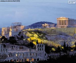 Puzzle de Acrópolis de Atenas, Grecia