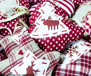 Puzzle de Adornos de Navidad, de tela