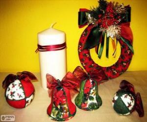 Puzzle de Adornos de Navidad variados