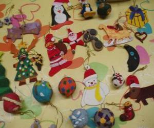 Puzzle de Adornos variados de Navidad