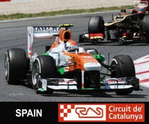 Puzzle de Adrian Sutil - Force India - Circuit de Catalunya, Barcelona, 2013