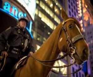 Puzzle de Agente de policía a caballo