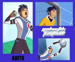 Puzzle de Ahito es el portero del equipo de fútbol galáctico Snow Kids con el número 1