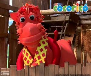 Puzzle de Alípio, el elegante caballo de la granja Cocoricó