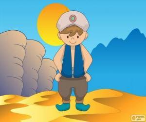 Puzzle de Aladino, el protagonista es un joven pobre