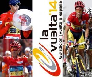 Puzzle de Alberto Contador, campeón de la Vuelta a España 2014