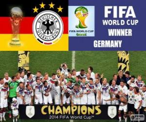 Puzzle de Alemania, campeona del mundo. Mundial de Fútbol Brasil 2014