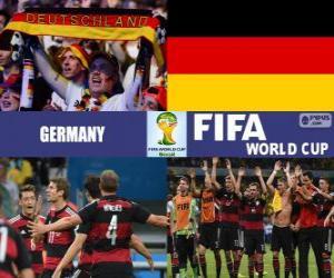 Puzzle de Alemania celebra su clasificación, Brasil 2014