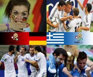Puzzle de Alemania - Grecia, cuartos de final, Euro 2012