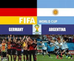 Puzzle de Alemania vs Argentina. Final del Mundial de Futbol FIFA Brasil 2014