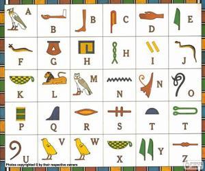 Puzzle de Alfabeto egipcio