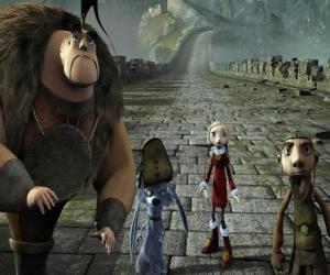 Puzzle de Algunos de los protagonistas de las aventuras: Gwizdo, Zoé, Héctor y Lian-Chu