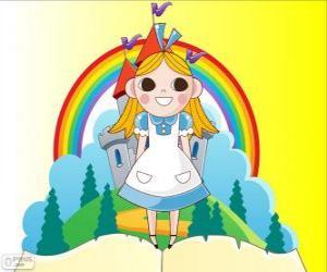 Puzzle de Alicia, la niña en el país de las maravillas