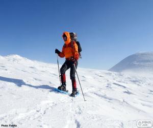 Puzzle de Alpinista en una travesía