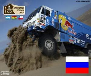 Puzzle de Andrey Karginov, Dakar 2014