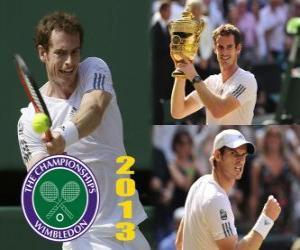 Puzzle de Andy Murray, Campeón Wimbledon 2013