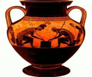 Puzzle de Ánfora griega decorada