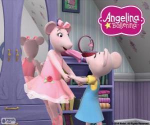 Puzzle de Angelina Ballerina y su querida hermana Polly