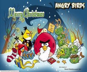 Puzzle de Angry Birds te desean unas felices fiestas navideñas