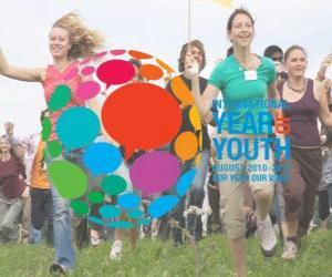 Puzzle de Año Internacional de la Juventud. Agosto 2010 - 2011. Nuestro año, nuestra voz