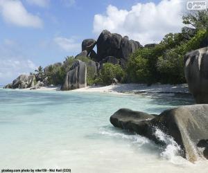 Puzzle de Anse Source D'Argent, Seychelles