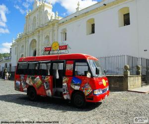 Puzzle de Antigua City Tour, Bus