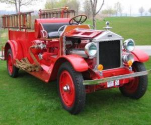 Puzzle de Antiguo camión de bomberos