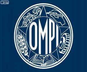 Puzzle de Antiguo logo de OMPI, Organización Mundial de la Propiedad Intelectual