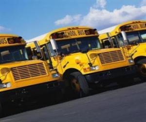 Puzzle de Aparcamiento de autobuses escolares