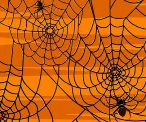 Puzzle de Arañas de Halloween