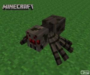 Puzzle de Araña, una de las criaturas de Minecraft