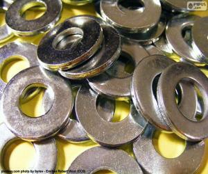 Puzzle de Arandelas de metal