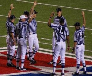 Puzzle de Arbitros de fútbol americano