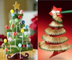 Puzzle de Árboles de Navidad, originales